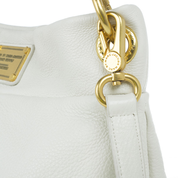 Marc by Marc Jacobs White Classic Q Hillier Hobo