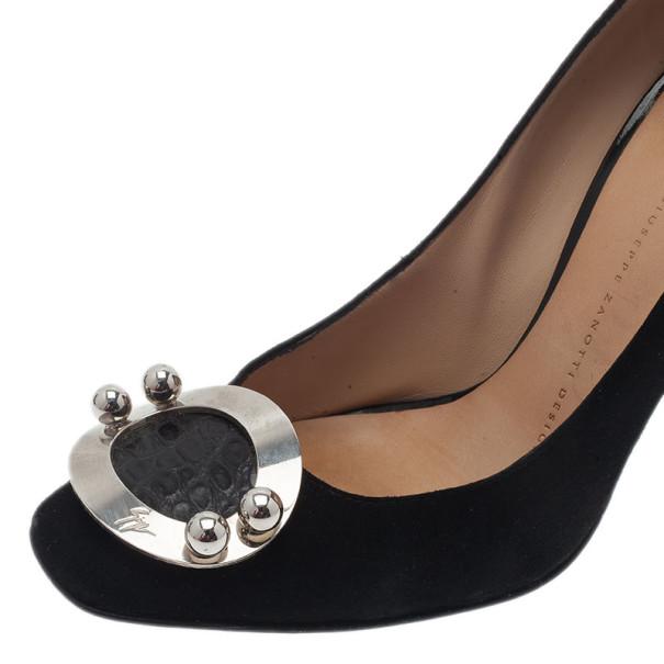 Giuseppe Zanotti Black Suede Pumps Size 37.5