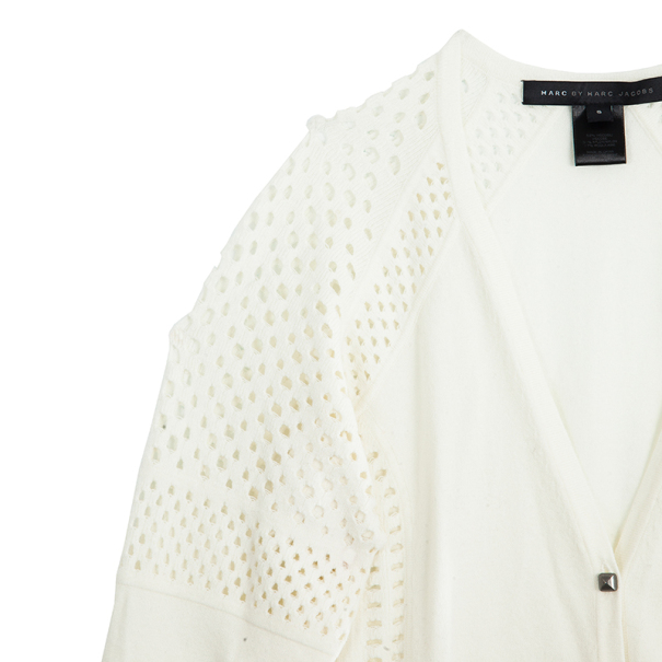 Marc by Marc Jacobs White Button Down Cardigan S