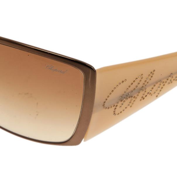 Chopard Brown Swarovski Crystal Embellished Sunglasses
