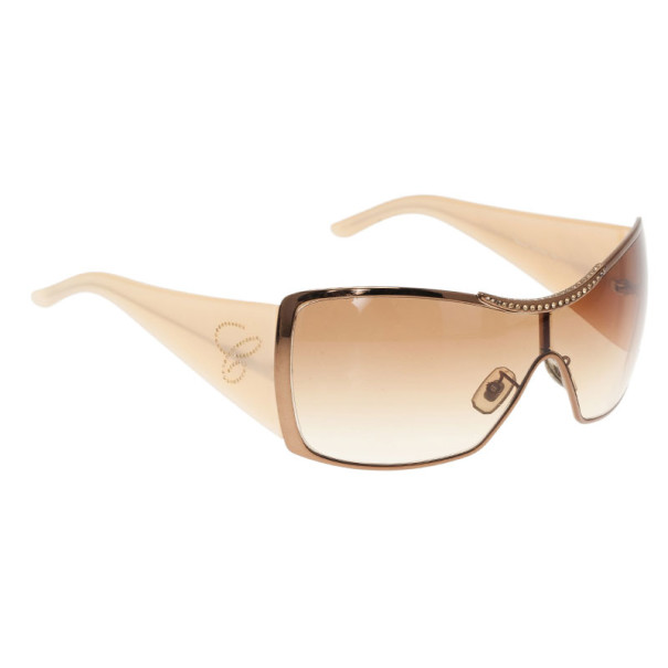 Chopard Brown Swarovski Crystal Embellished Sunglasses
