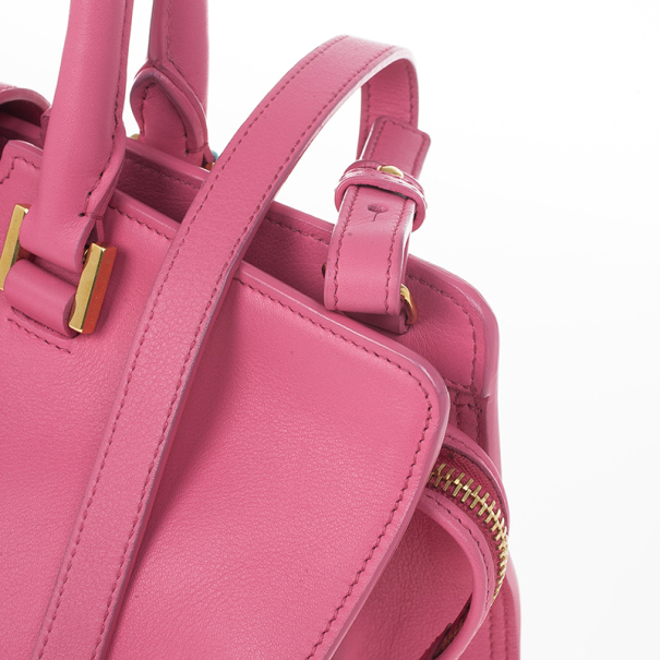 Saint Laurent Paris Pink Fushia Ligne Y Mini Cabas Bag