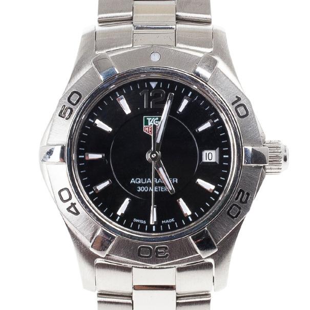Tag Heuer Black Stainless Steel Aquaracer Women's Wristwatch 28MM