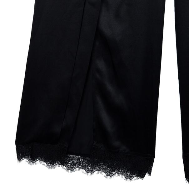Stella McCartney Black Palazzo Slit Silk Pants S