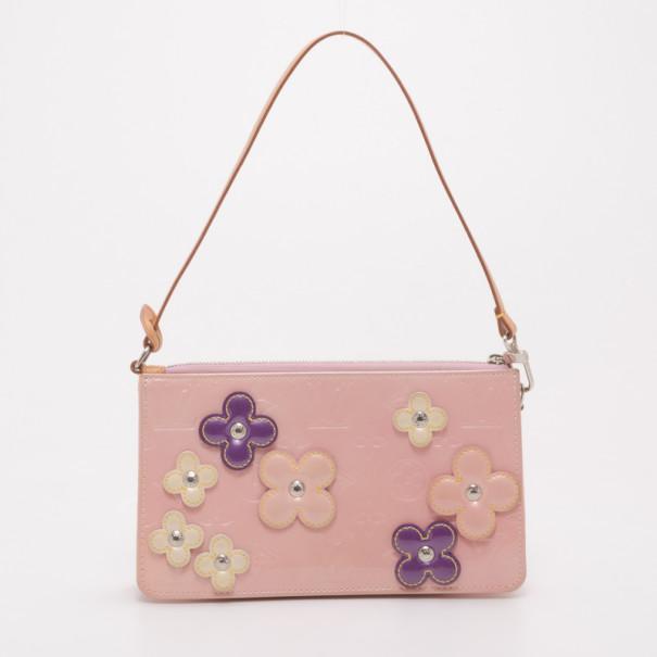 Louis Vuitton Ltd Edition Pink Monogram Vernis Lexington Flower Pochette Bag 37488 At Best Price Tlc