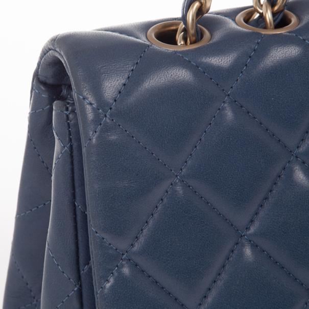 Chanel Blue Maxi Classic Flap Bag