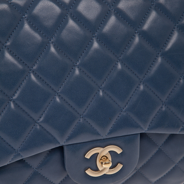 Chanel Blue Maxi Classic Flap Bag