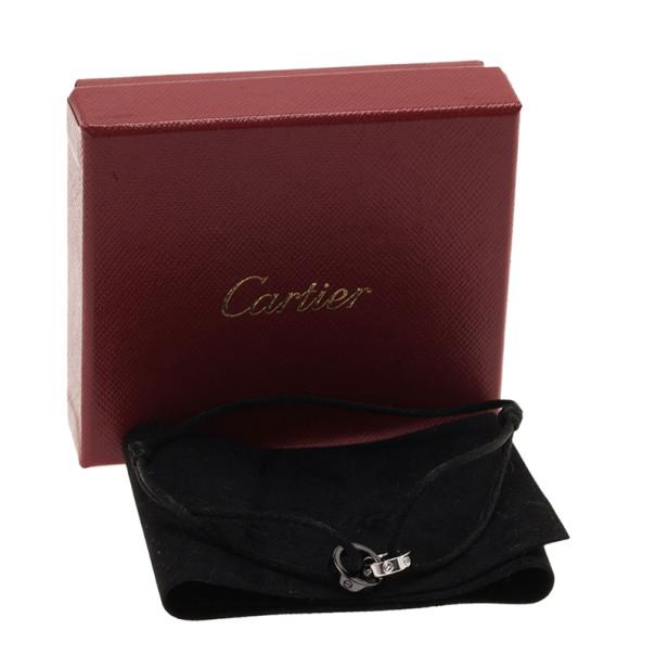 Cartier Love 18K White Gold Black Ceramic Diamond Bracelet