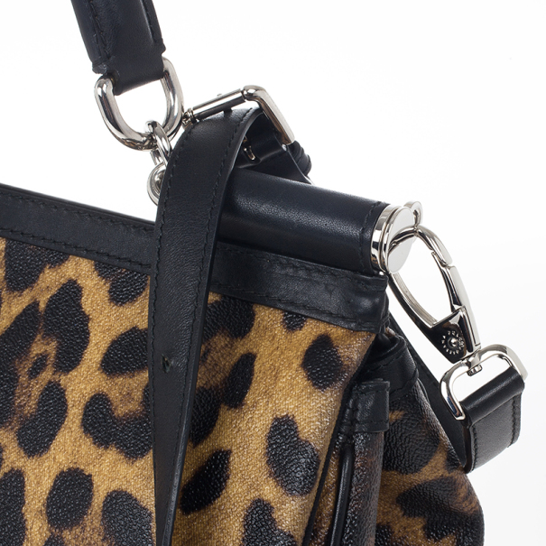 Dolce and Gabbana Leopard Miss Sicily Satchel
