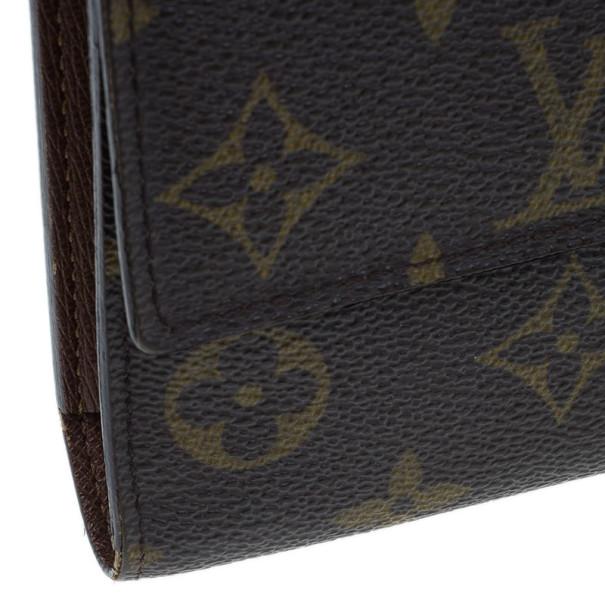 Louis Vuitton Mongram Canvas Porte Monnaie Tresor Continental Wallet