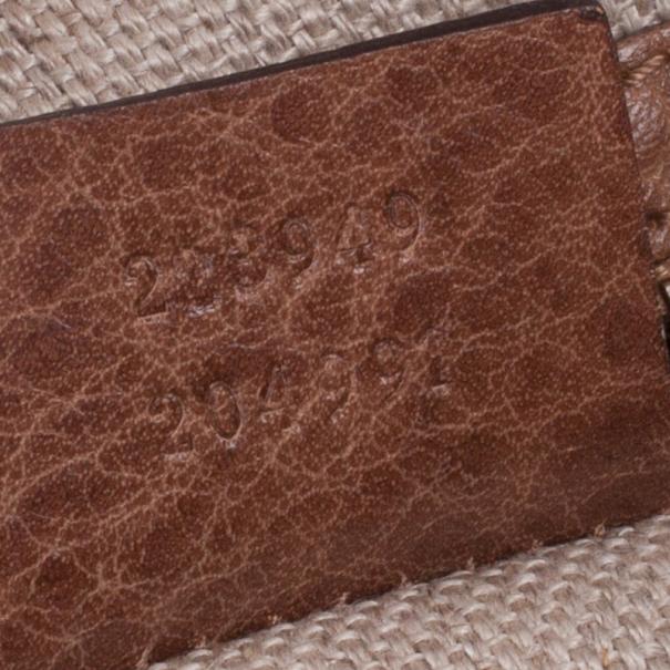 Gucci Straw And Crocodile Secret Medium Hobo