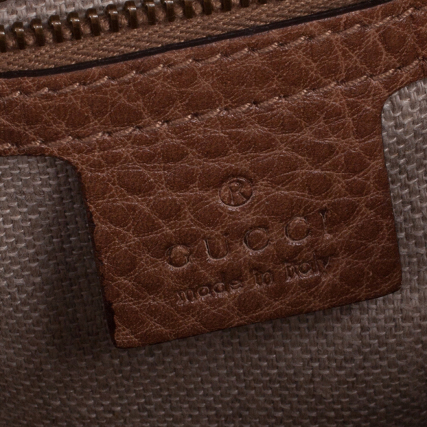 Gucci Straw And Crocodile Secret Medium Hobo