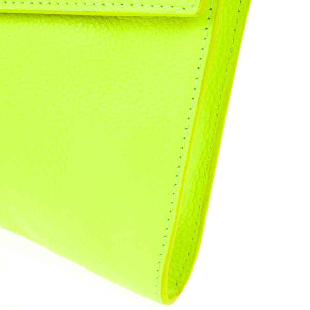 Jimmy Choo Yellow Rivera Clutch
