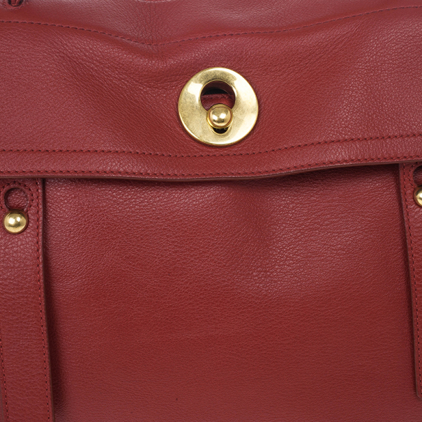 Saint Laurent Paris Red New Muse Two Bag