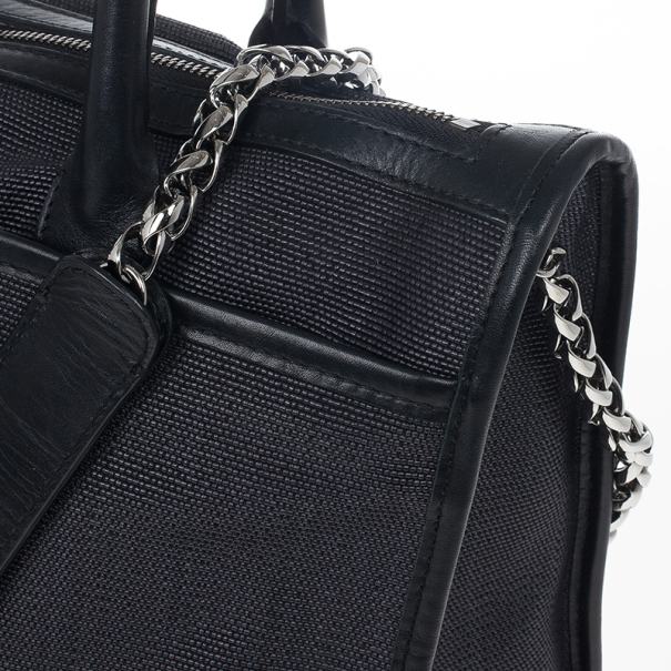 Christian Louboutin Black Sweet Charity Shopping Canvas Tote
