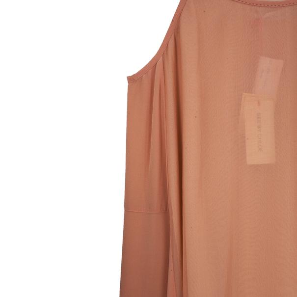 See By Chloe Midi Ruffled Hem Dress L