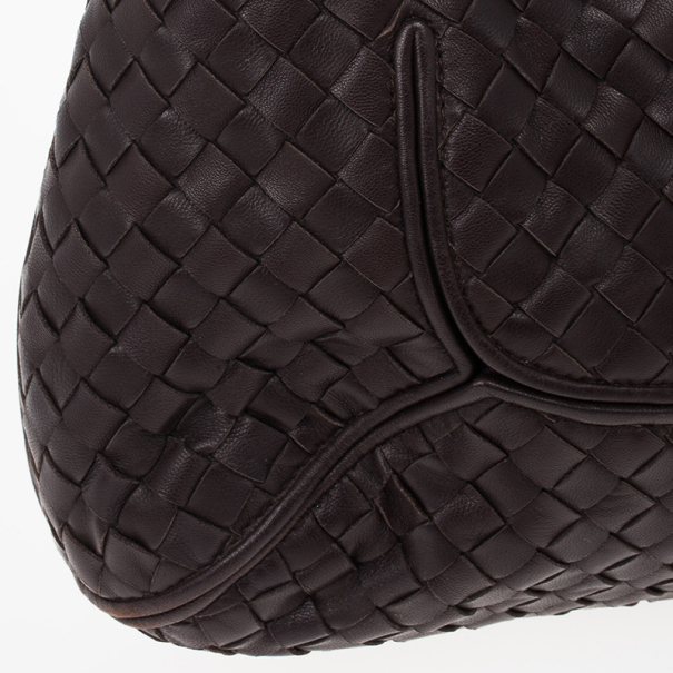 Bottega Veneta Brown Intrecciato New Ball Hobo