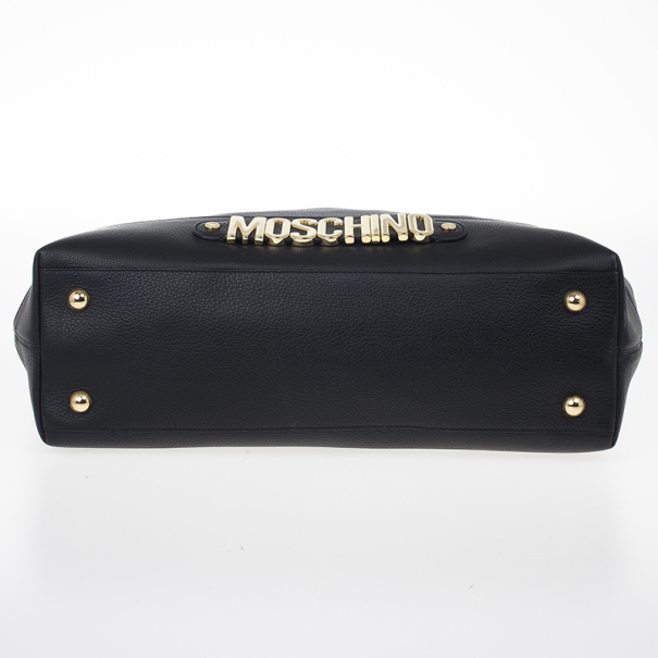 Moschino Leather Shopper Tote