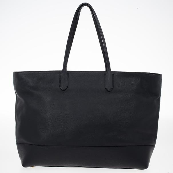 Moschino Leather Shopper Tote