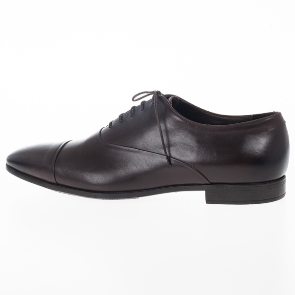 Giorgio Armani Brown Leather Classic Oxfords Size 44