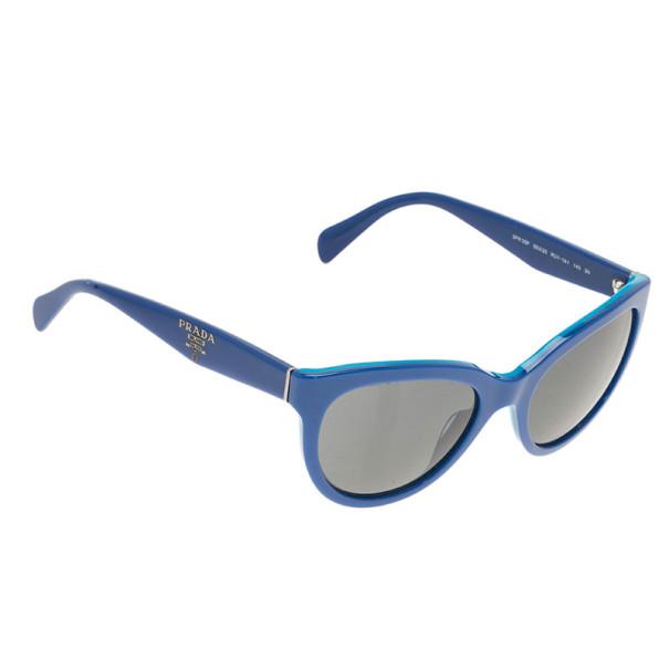 Prada Blue SPR05P Cat Eye Sunglasses