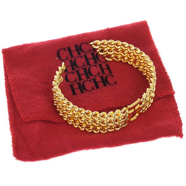Carolina Herrera Golden Chain Bracelet 17 CM
