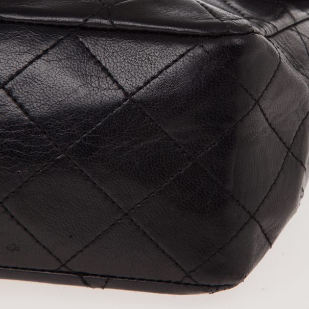 Chanel Black Lambskin Vintage Classic Flap Bag