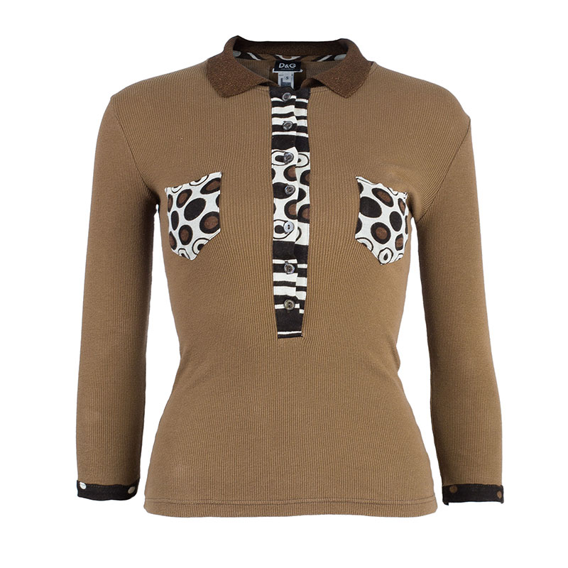 D&G Brown Knit Top S