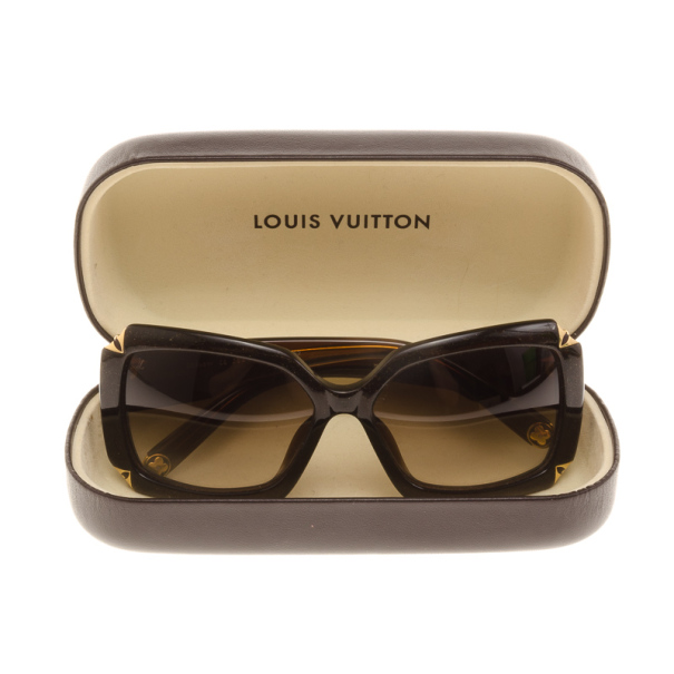 Loui Vuitton Sunglasses Women  louis vuitton brown glitter hortensia woman sunglasses