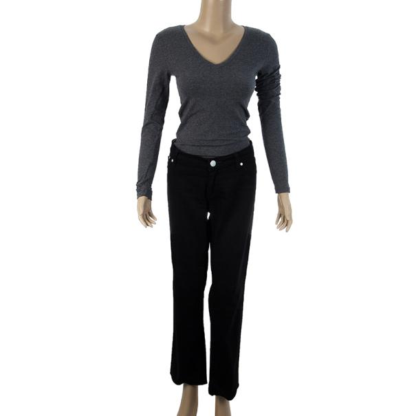 Victoria Beckham Silver Stitch Black Jeans M