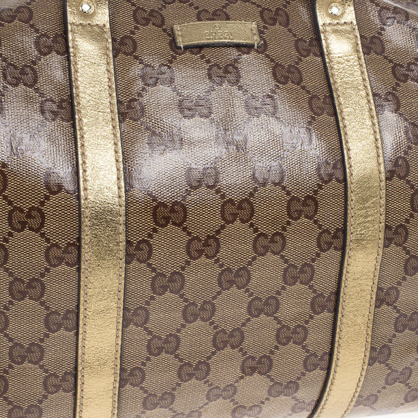 Gucci Gold Crystal Lame Joy Boston Satchel