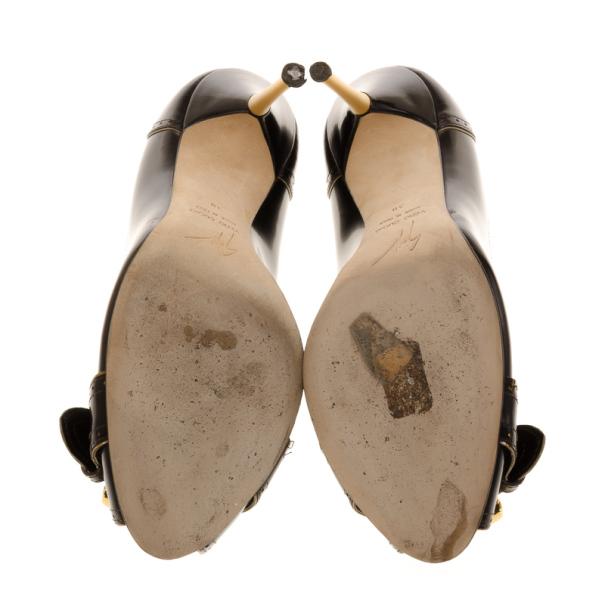 Giuseppe Zanotti Peep Toe Buckle Pumps Size 38
