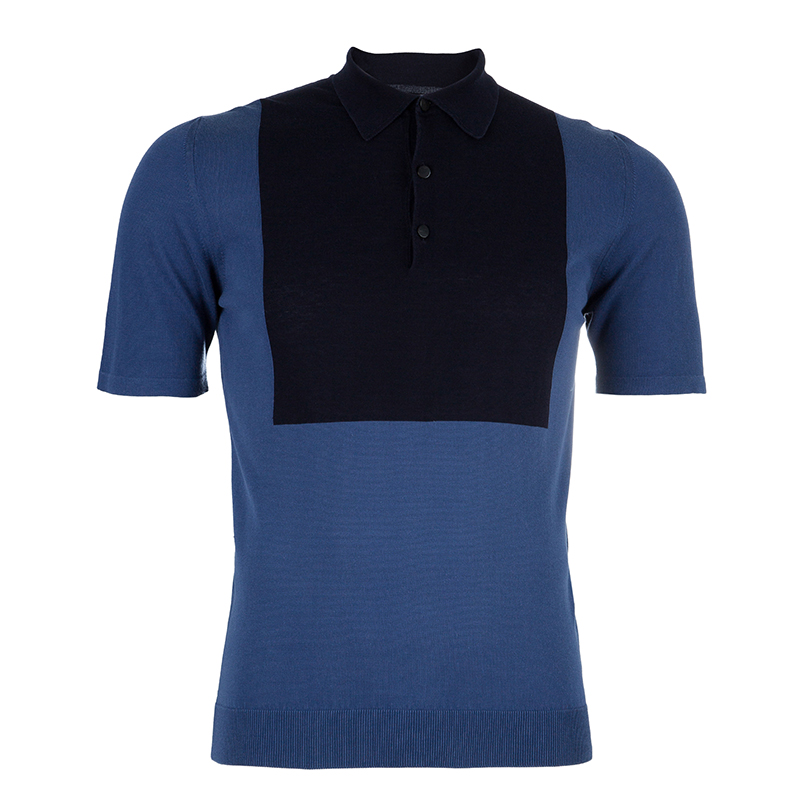 Lanvin Men's Blue Polo Shirt S
