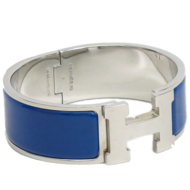 ccd949fe81072 ... netherlands hermes clic h royal blue enamel palladium plated wide  bracelet buy aa53e f3a0e
