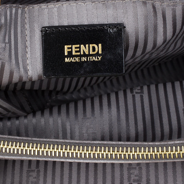 Fendi Grey Leather Large 2 Jours Tote