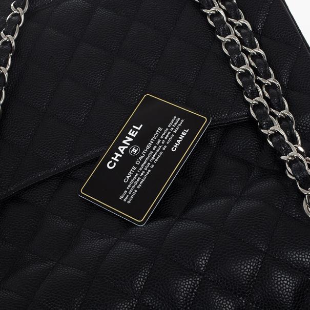 Chanel Black Caviar Maxi Classic Flap Bag