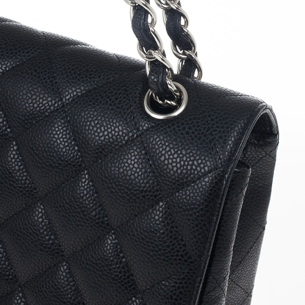 Chanel Black Caviar Maxi Classic Flap Bag