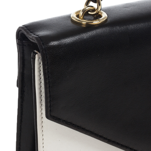 Chanel Black And White Envelope Shoulder Bag