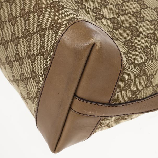 Gucci Beige Craft GG Tote Bag