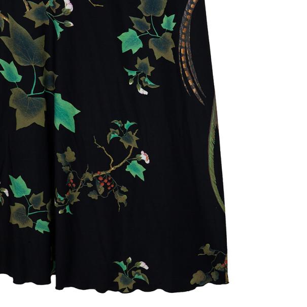 Roberto Cavalli Floral Maxi Dress M