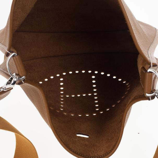 Hermes Brown Evelyne Togo III GM Bag