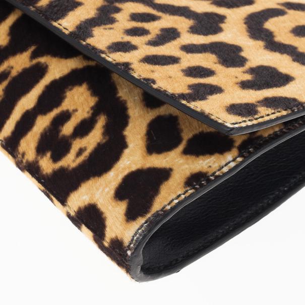 Yves Saint Laurent Leopard Cabas Chyc Clutch