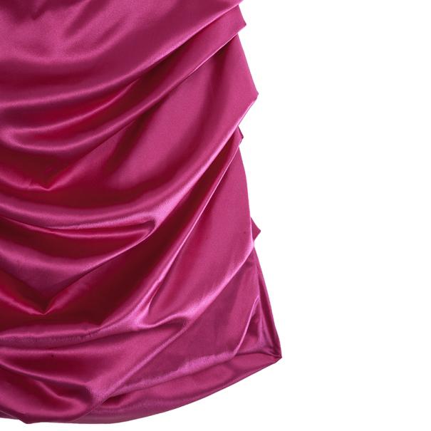 Dolce and Gabbana Ruched Silk Dress L