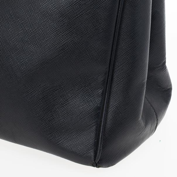 Prada Black Saffiano Lux Tote