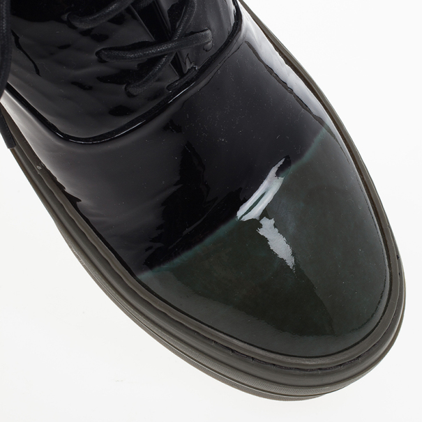Alexander McQueen Two Tone Patent Sneakers Size 43