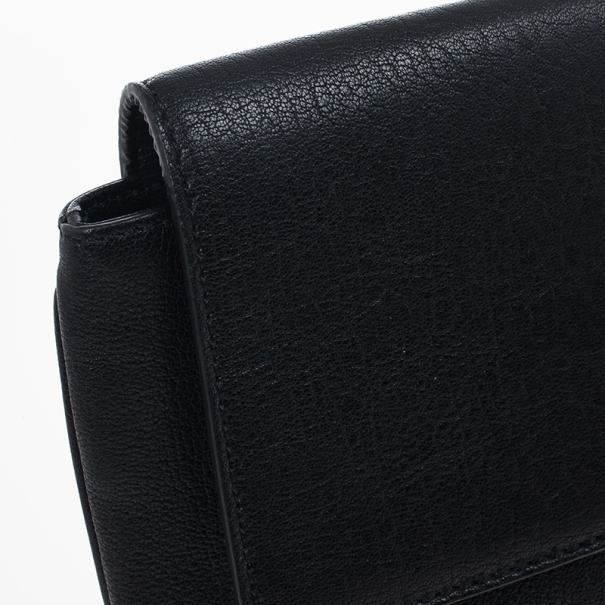 Chloe Black Amelia Leather Clutch