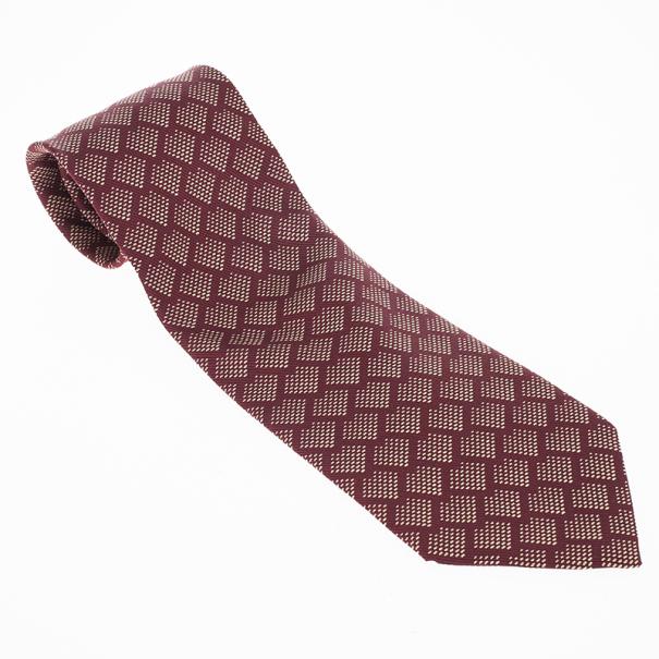 Giorgio Armani Maroon Silk Tie