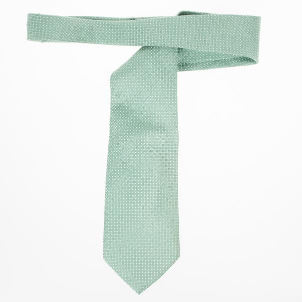 Giorgio Armani Green Textured Silk Tie