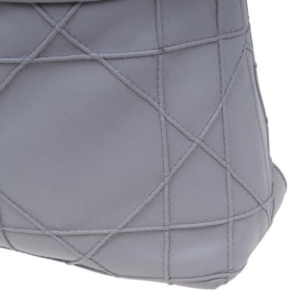 Dior Grey Lambskin Cannage Granville Chain Link Tote