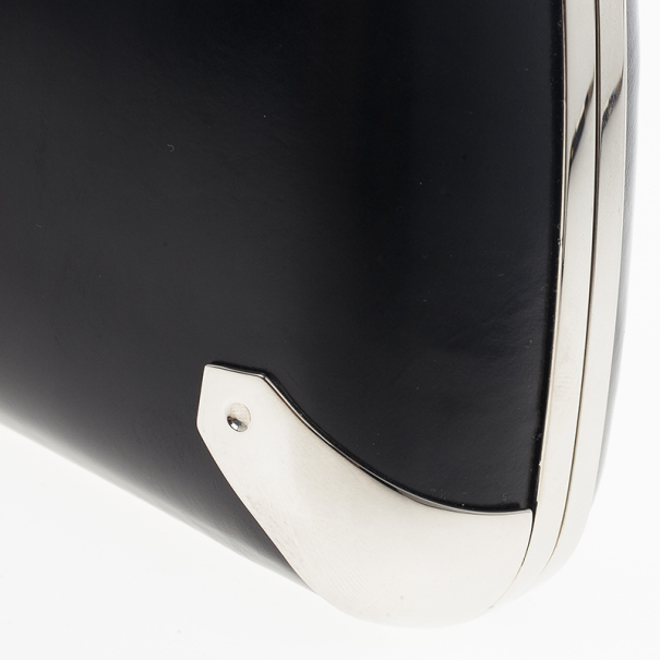 Balenciaga Black Calfskin Minaudière Trapèze Clutch